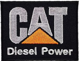 CAT Diesel Power iron-on/sew-on cloth patch  (tg)